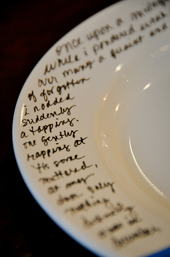 Love this!  Buy plates from Dollar Store, write things like, Night Before Christ