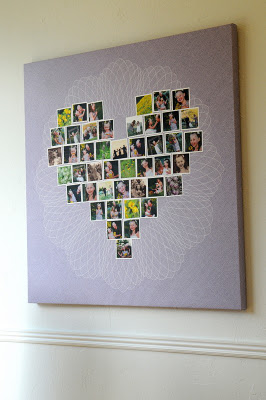 The perfect Christmas gift for Grandma. A heart full of faces that she loves.