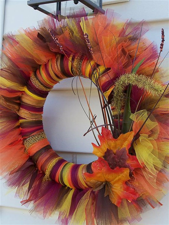 Love this!!!! Tulle wreaths. Great for any holiday or season And very easy to ma