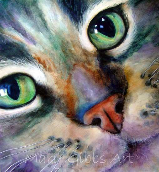 cat watercolor – Mary Gibbs