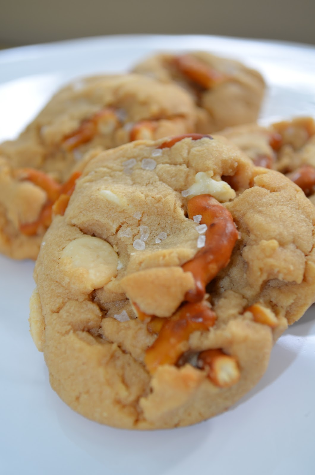 The Sweet & Salty. Peanut Butter Cookie loaded with pretzels, white chocolat