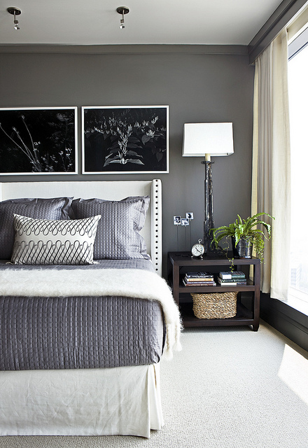 Love this gray tone!! Looking to paint our kitchen a similar tone! :)    Benjami