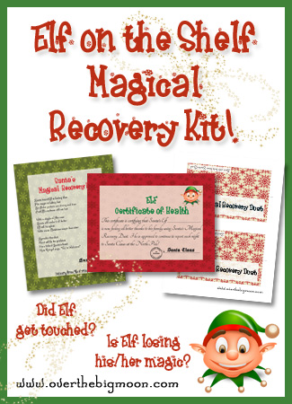 Elf on the Shelf Magical Recovery Kit – in case he gets touched and starts losin