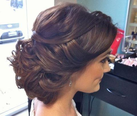 romantic and loose updo.