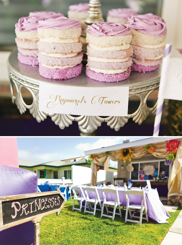Royal Tangled Princess Party {Ombre Purple & Gold}