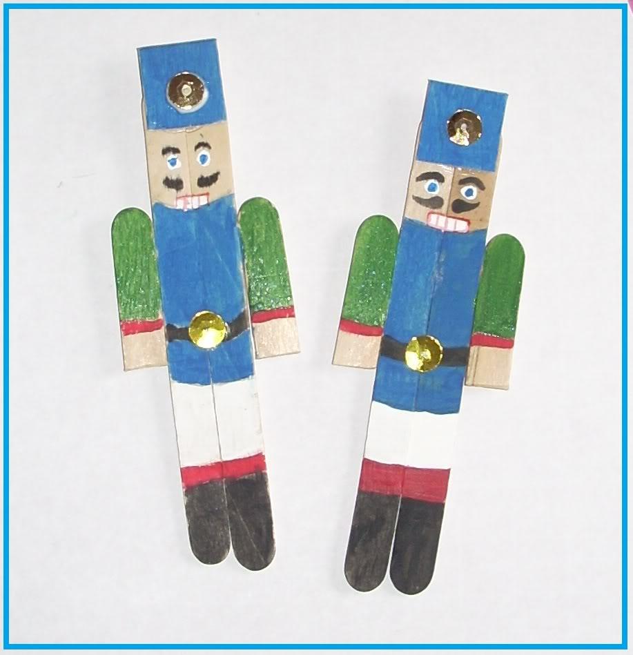 Popsicle stick nutcracker xmas ornament, crafts for kids. also more homemade ide
