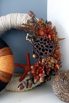 Project 12: Wrapped Yarn Fall Wreath (DIY for Busy Gals) #wreath