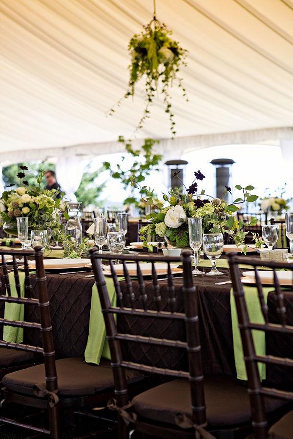 pretty, earthy, brown & green wedding