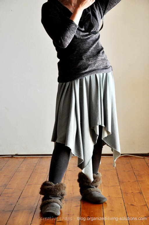 organized living solutions: Another no-sew skirt DIY