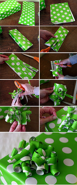 I've always made my ribbons out of just one strip of paper from the scraps!