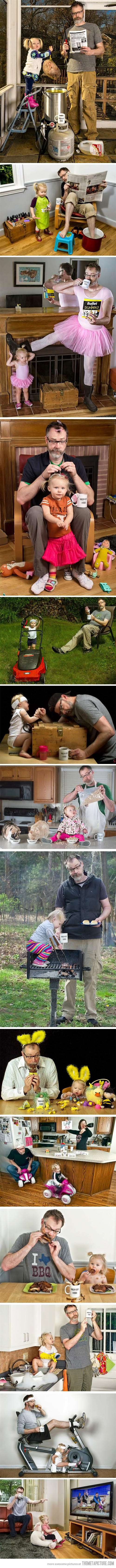 Awesome father daughter photos! :)