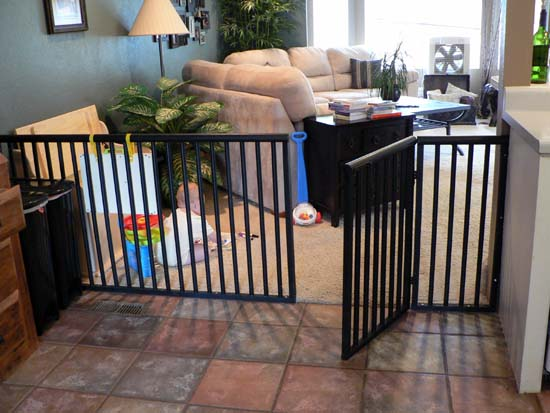 DIY any-size baby (or dog!) gate.  These things are so so expensive to buy!  Nic