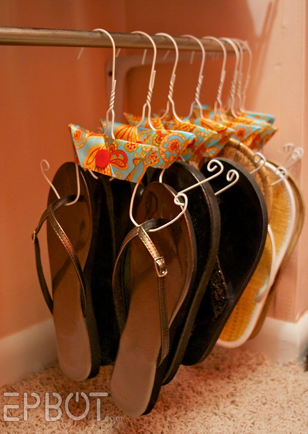 Simplify Organizing Your Shoes: Jen from Epbot shows us a very inexpensive way t