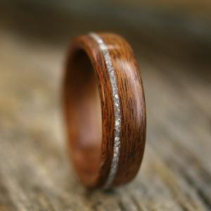 Wood and Diamond Ring.