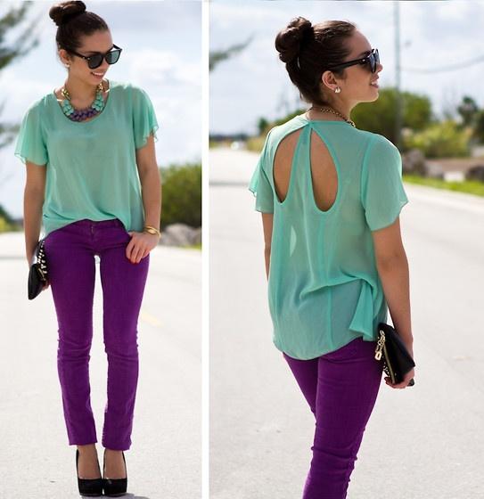 love the purple pants