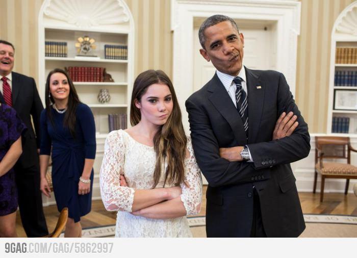 Obama and McKayla Maroney are not impressed.