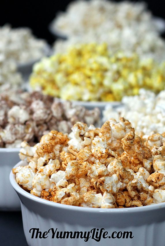 Healthy Microwave Popcorn — 10 sweet & savory flavor recipes using coconut