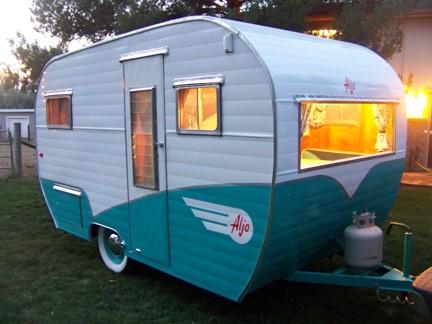 1958 Aljo travel trailer