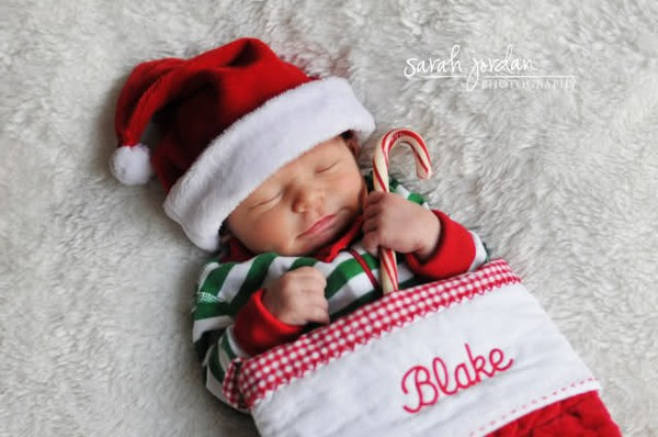 I'm doing this. 1st Christmas Photo… And the cutest thing I have ever, eve