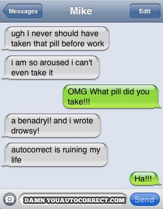 Auto correct fail!  LOL