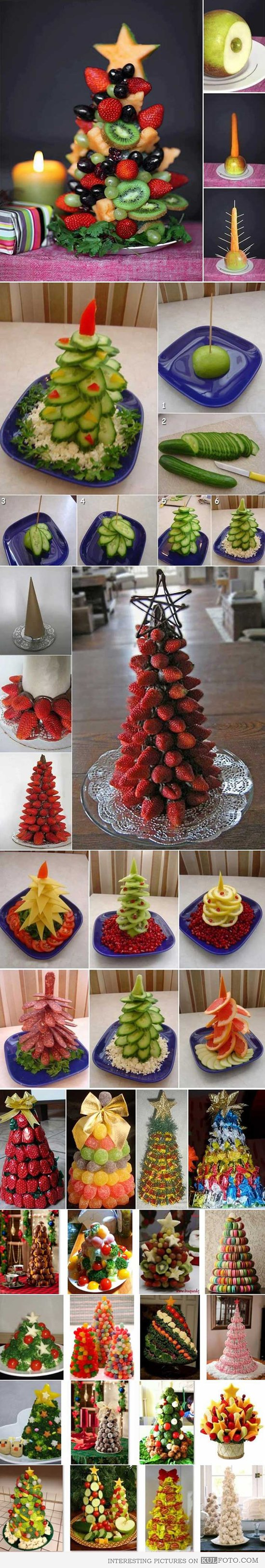 Food Christmas trees