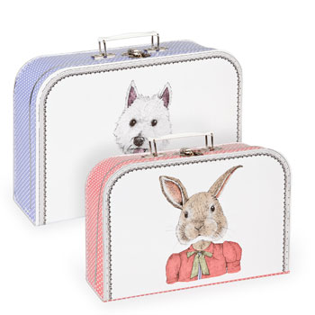 perfect suitcases for little pet lovers…