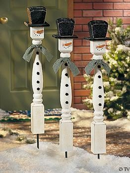 spindle snowmen spindles are $3 at lowes.