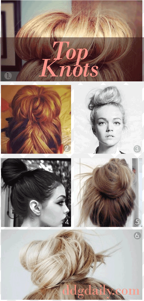 top knots are quick, easy & fun! can't wait for my hair to grow out even