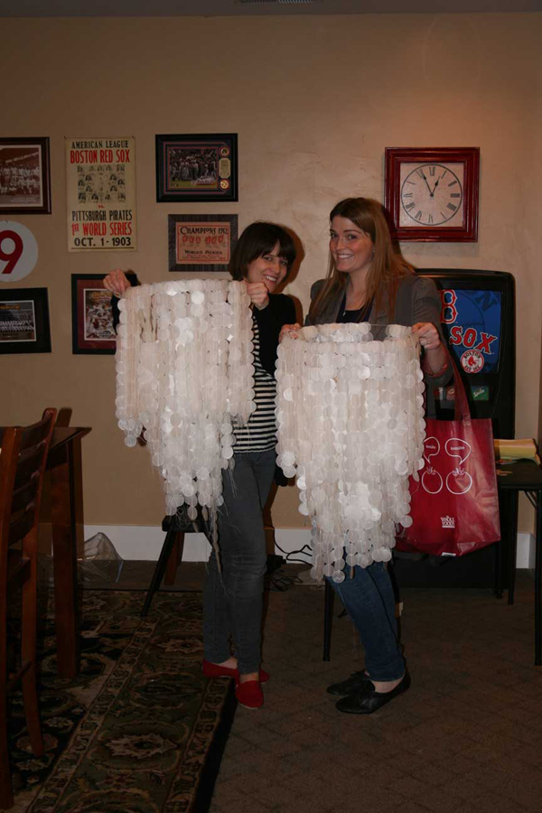 Learn to make wax paper chandeliers. Would be great for a wedding reception or f