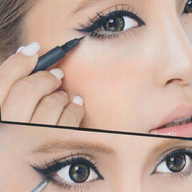 perfect winged liner #howto #makeuptips #makeup #diy #l4l #followforfollow #cate