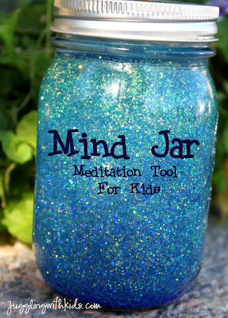 Mind Jar-Watch the glitter sink to the bottom as a meditation tool.  The tempera