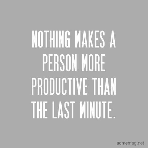 What makes you productive?