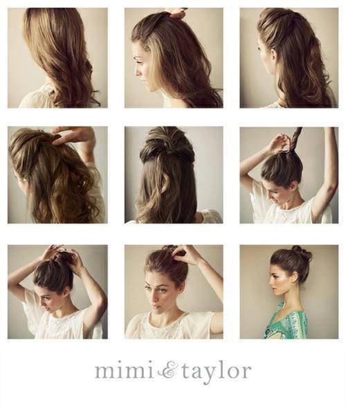 messy bun trick  For when my hair is finally long again.