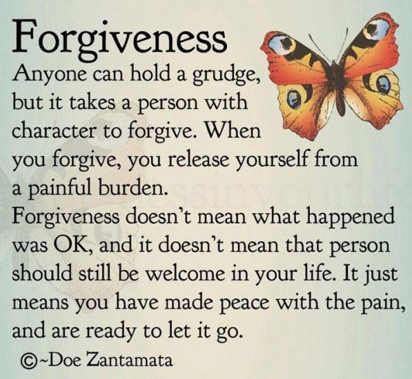 Do you need to forgive someone?