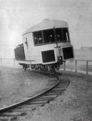 Gyroscopically balanced monorail, Brennan and Scherl, 1907.