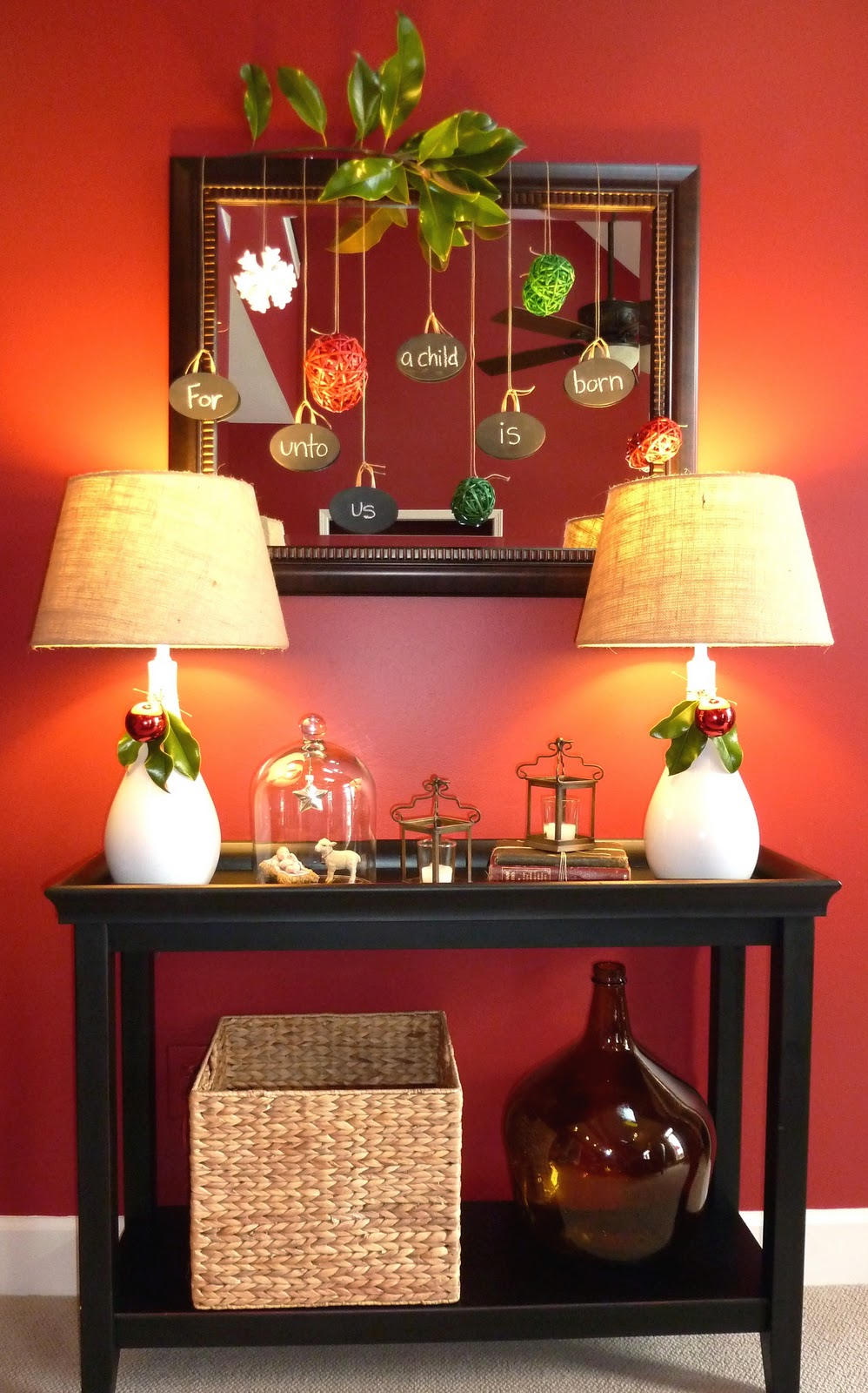 Fabulous Fun And Traditional Christmas Hallway Decor Using A Pier 1 Machost Co Dining Chair Design Ideas Machostcouk