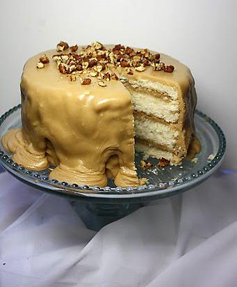 Caramel White Velvet Butter Cake…oh my goodness!