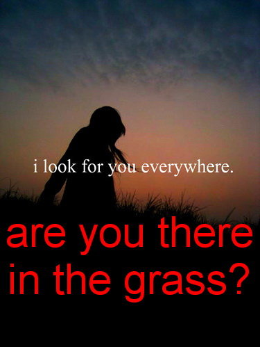 Future Boyfriend? Are you there? I know you like hiding in the grass! mwahaha!