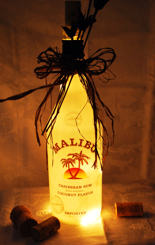 Lighted Malibu Rum Bottle We Know How To Do It