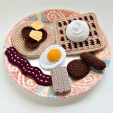 Crochet Breakfast Food Patterns