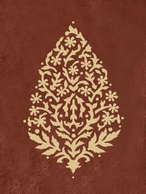 Wall Stencil Sari Paisley size MED – Easy craft stencils for walls, fabric and f