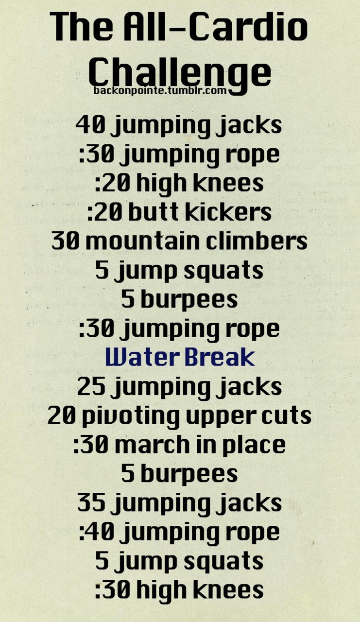 Cardio workout challenge!