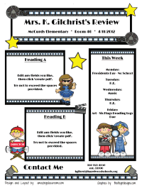 Classroom Newsletters. Fill in the blank PDF.  Even has a Hollywood themed one.