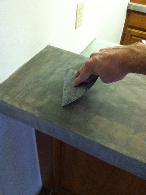 ardex feather finish countertop tutorial diy ardex concrete countertops we how to do it 262