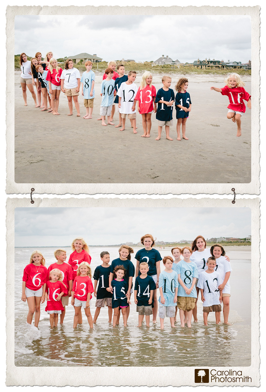 Cousin photo – number of order – color by family. So great!