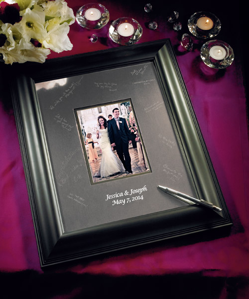 Personalized Black Framed Inscribable Signature Keepsake Mat Kit. I love this si