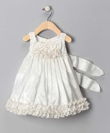 Ivory Ruffle Dress from Chic Baby on #zulily