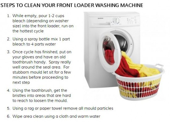 how to clean front loader washing machine with cold water