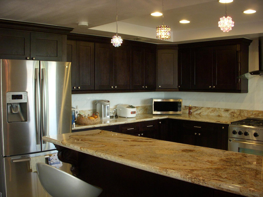 Kitchens with Espresso Cabinets -   Espresso-stained kitchen cabinetry.