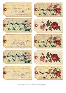Vintage Christmas tags : Free Download